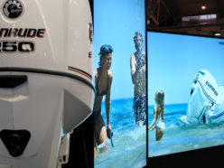 BRP Evinrude nautical salon stand design