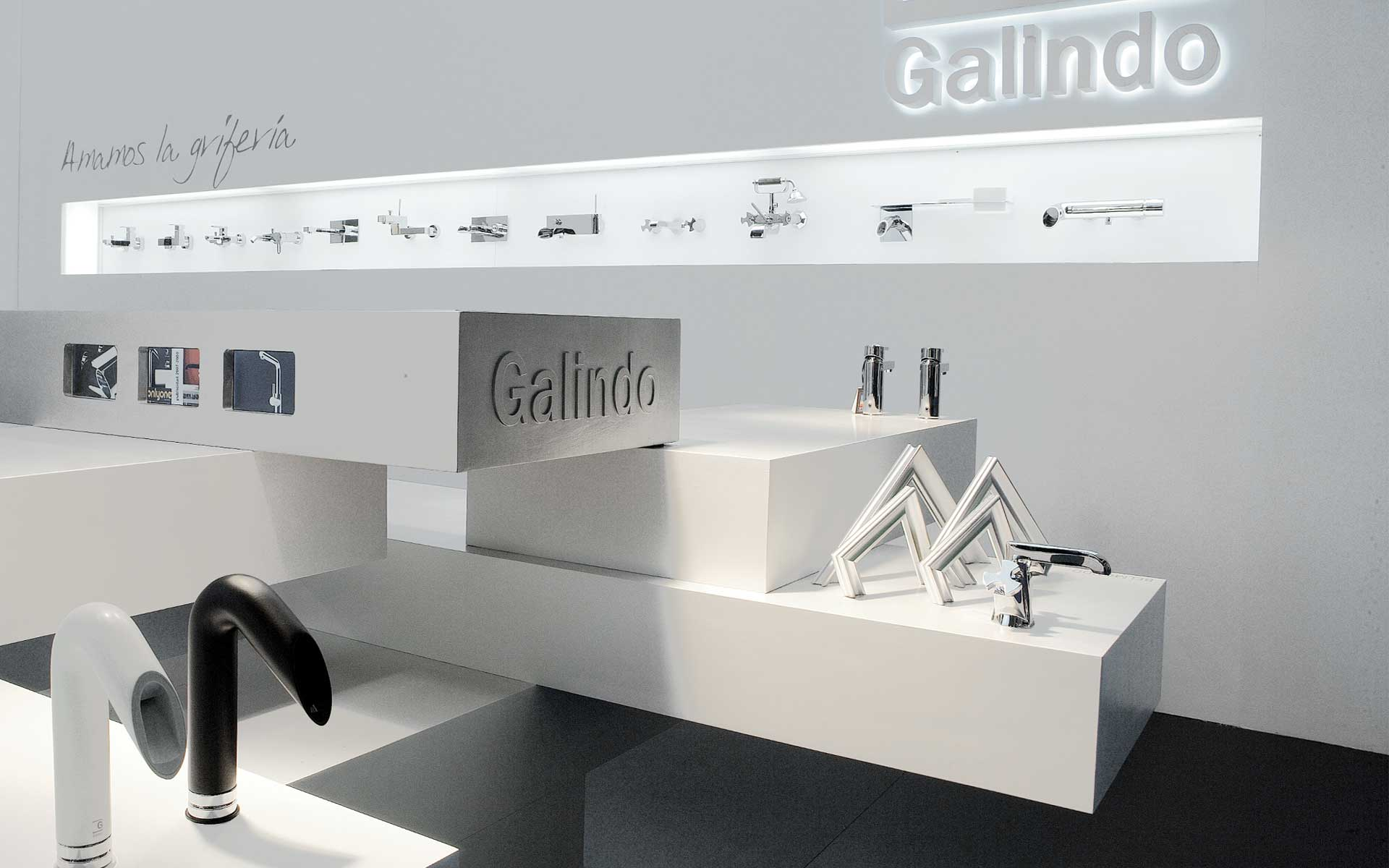 Construmat trade fair (EXPO) faucet stand design builded in Barcelona